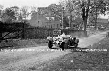 Jaguar SS100 photo.Unknown driver. Bo'Ness Hillclimb 1938